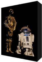 Star Wars C3PO R2D2 - Canvas Art - NEW - Choose your size - Ready to Hang